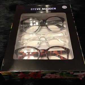 Steve Madden 1.5 Read Glasses Black Clear Tortoise